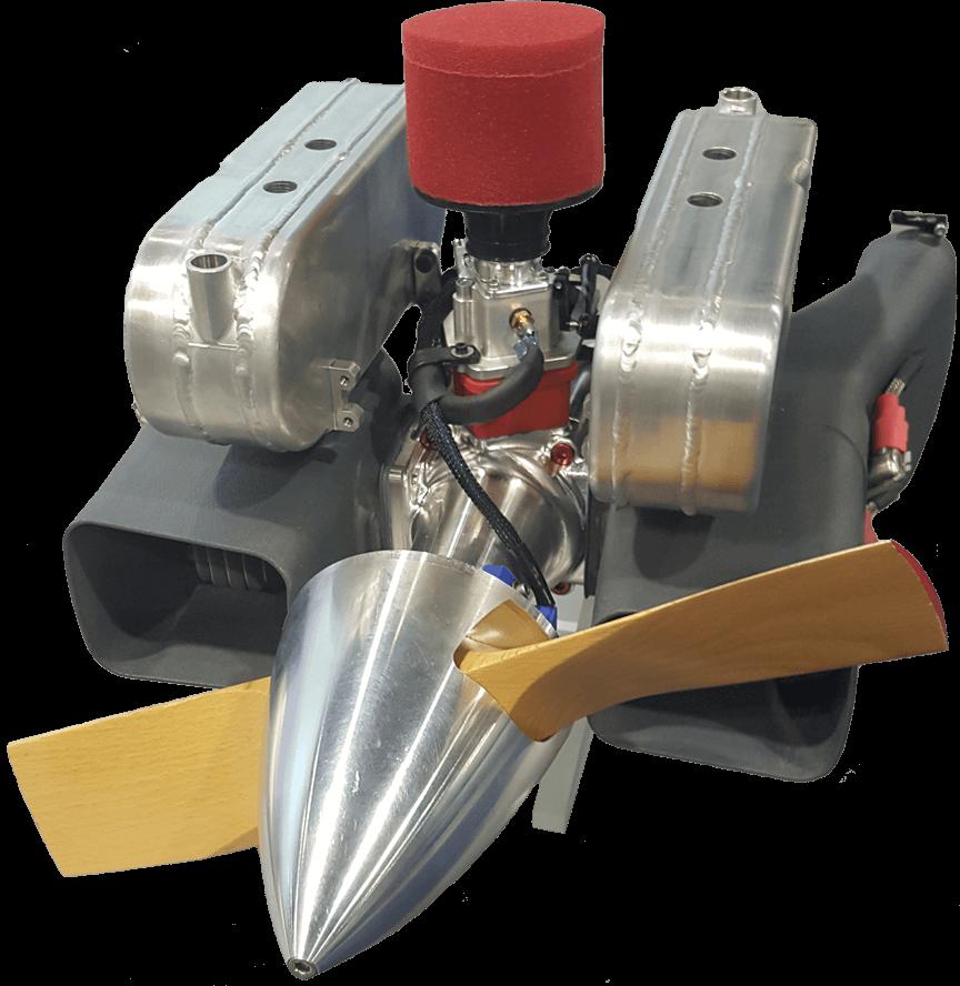 B100i UAV EFI Engine with quiet exhaust