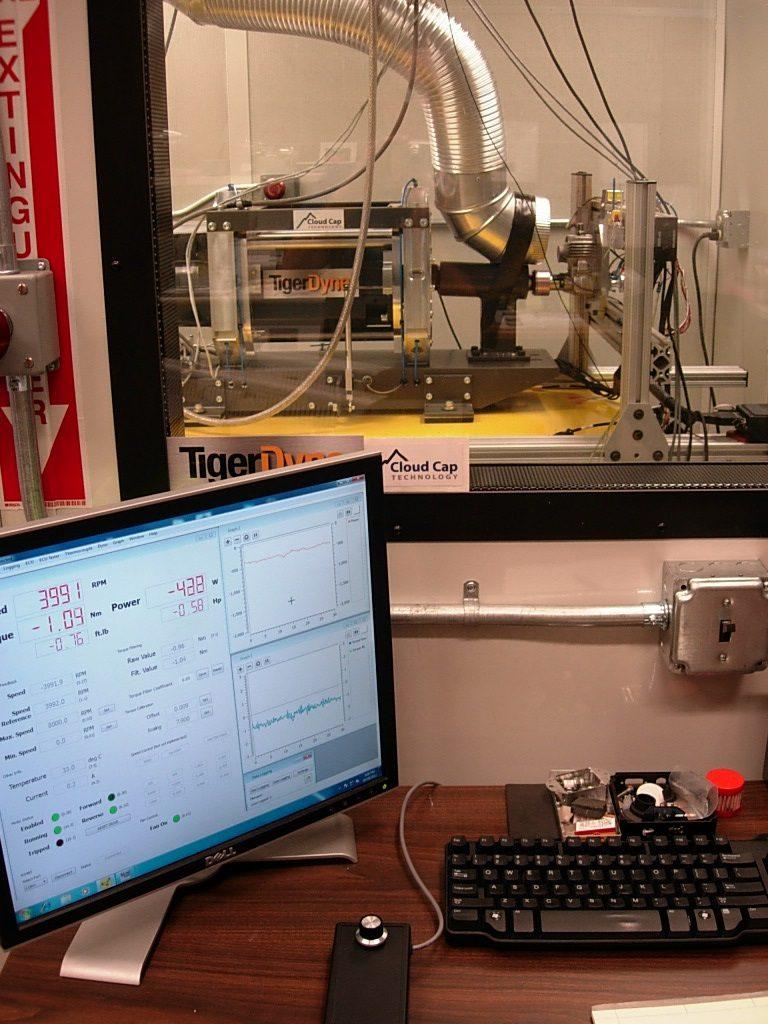 Power4Flight's engine test cell