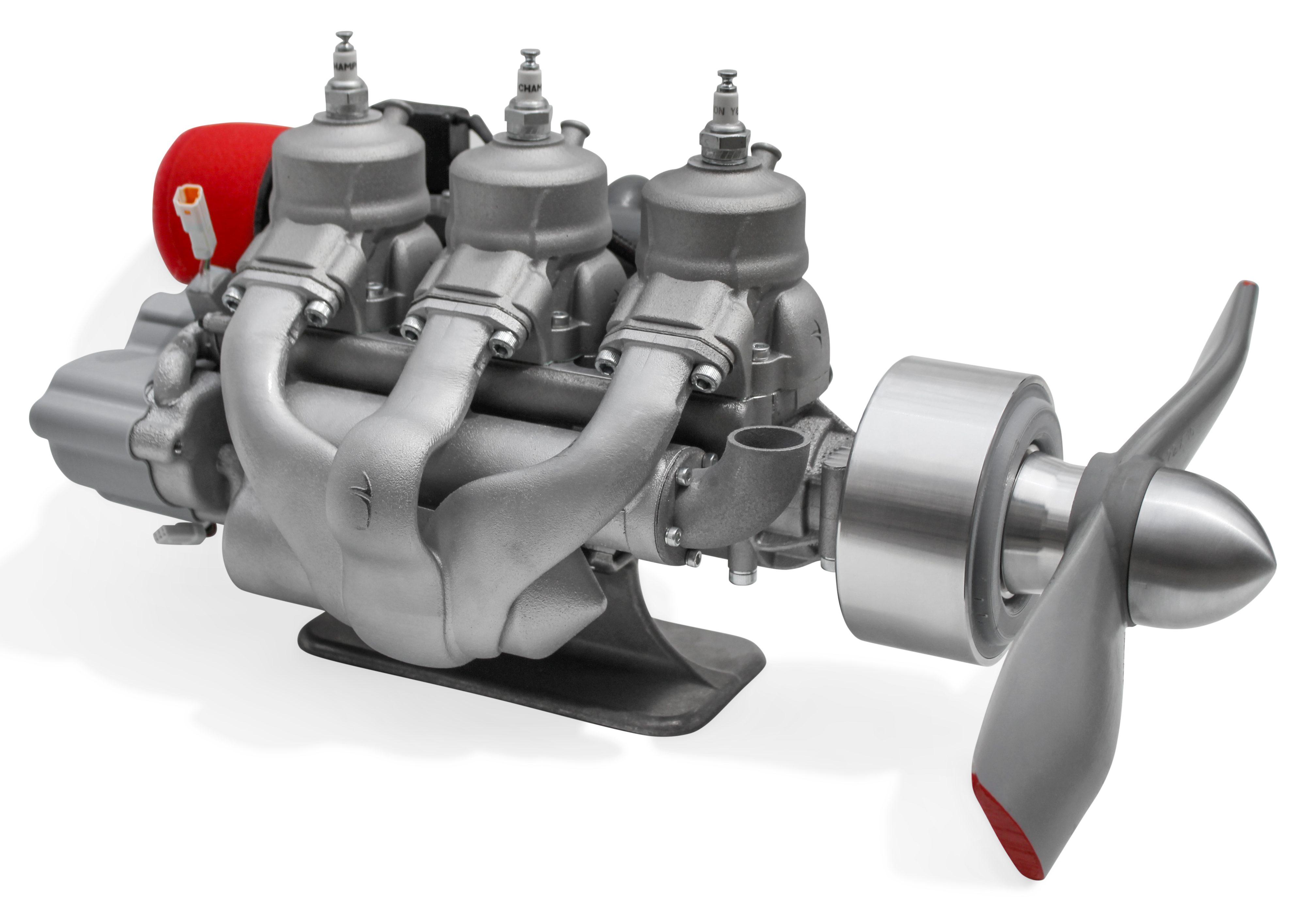 A99 Triple Liquid Cooled UAV Engine